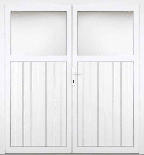 """Kunststoff Nebeneingangstür """"MELINA 1/3"""" 60mm 2-flügelig Doppeltür symmetrisch"""