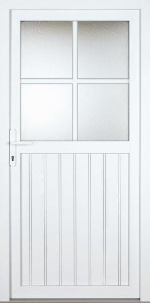 "Nebeneingangstür ""OCTAVIA"" 70mm (PVC, genutet, weiß)"