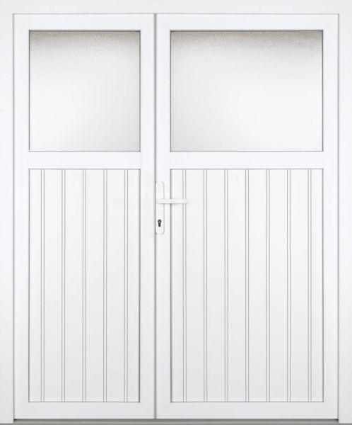 """Kunststoff Nebeneingangstür """"ABRIL 1/3"""" 70mm 2-flügelig Doppeltür asymmetrisch"""