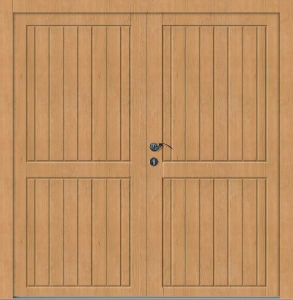 "Holz Nebeneingangstür ""ALMA"" 56 mm 2-flügelig Doppeltür symmetrisch"