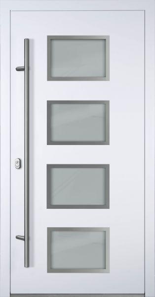"""Aluminium Haustür """"WILHELMINE"""" 90mm (Mit Edelstahlapplikationen) RC2"""