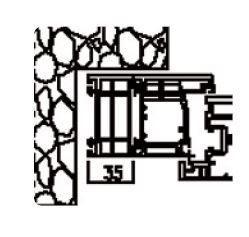 Rahmenverbreiterung für Türen der Stärke 60mm (35 x 60mm) (Flexible Türmontage)