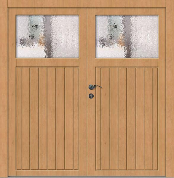 """Holz Nebeneingangstür """"ELSA"""" 62 mm 2-flügelig Doppeltür symmetrisch (Schreiner-Qualität)"""