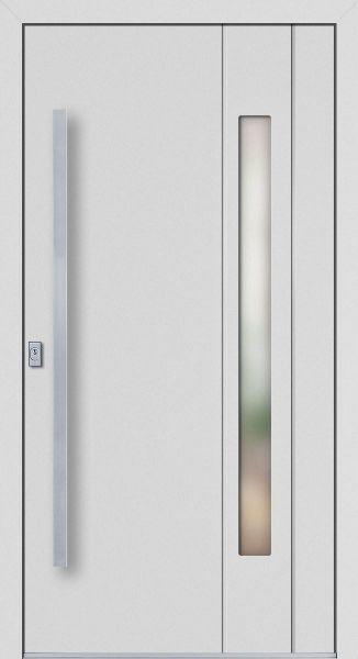"""Aluminium Haustür """"HERMINE"""" 77mm flügelüberdeckend RC2"""