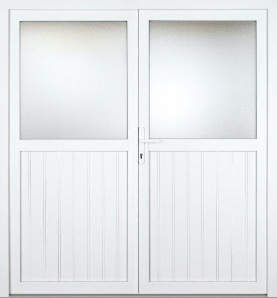 """Kunststoff Nebeneingangstür """"STEFANIE"""" 70mm 2-flügelig Doppeltür symmetrisch"""