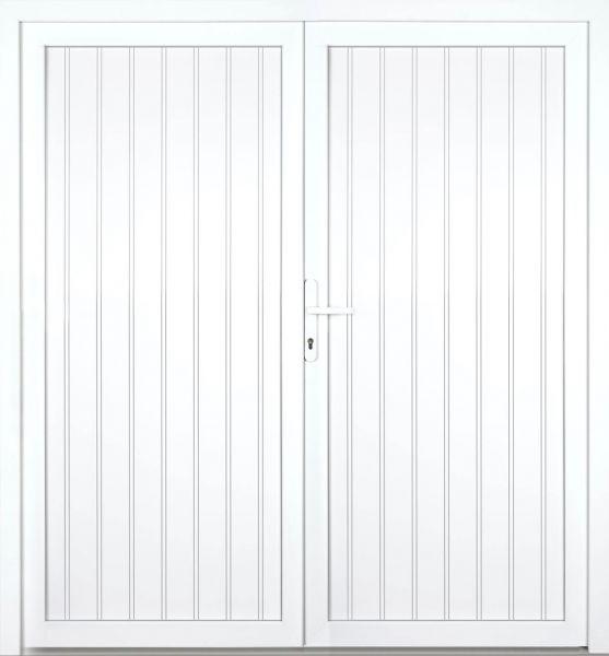 """Kunststoff Nebeneingangstür """"TANJA"""" 70mm 2-flügelig Doppeltür symmetrisch"""