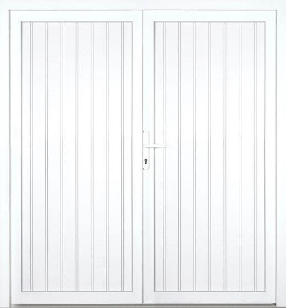 """Nebeneingangstür """"MELINA"""" 60mm (PVC, genutet, 2-flügelig, Doppeltür, symmetrisch, weiß)"""