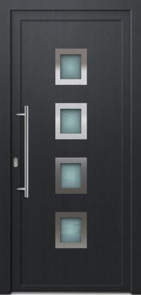 """Kunststoff Haustür """"FABIENNE"""" 70mm Anthrazit (100 cm (B) x 200cm (H), B-Ware, Kratzer oben am Rahm"""