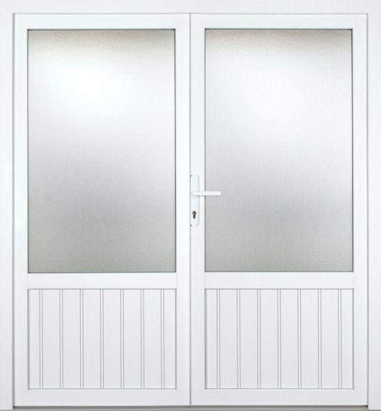 """Kunststoff Nebeneingangstür """"MELINA 2/3"""" 60mm 2-flügelig Doppeltür symmetrisch"""