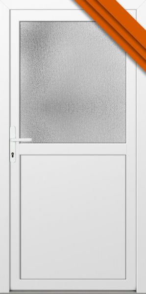 """AKTIONS-Nebeneingangstür """"PAULA"""" 60mm (102cm(B),200cm(H), Weiß beidseitig, DIN rechts innen, PVC)"""