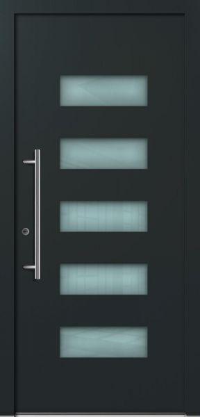 "Aluminium Haustür ""FRANCA"" 78mm flügelüberdeckend RC2 (96 cm (B) x 196 cm (H), NEUWERTIG, B-Ware)"
