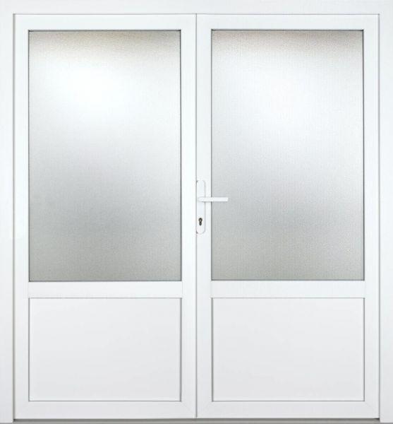 """Kunststoff-Aluminium Nebeneingangstür """"REBECCA 2/3"""" 60mm 2-flügelig Doppeltür symmetrisch"""