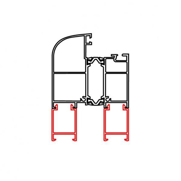 Rahmenverbreiterung für ALU-Türen der Stärke 60mm (21 x 30mm) (Flexible Türmontage)
