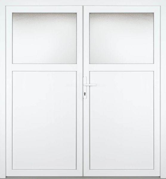 """Kunststoff Nebeneingangstür """"ANTONIA-M"""" 74mm 2-flügelig Doppeltür symmetrisch"""