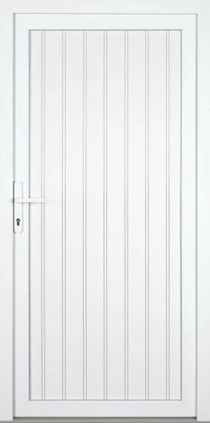 cm, DIN Links, innen /öffnend Wei/ß, PVC, Dr/ückergarnitur, 88 H Kunststoff Nebeneingangst/ürDIANA 60mm B x190