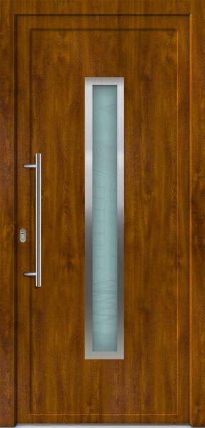 "Kunststoff Haustür ""LORE-S-K"" 70mm (105cm (B), 221cm (H), NEUWERTIG, B-Ware)"