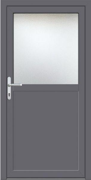 "Wundervoll Nebeneingangstür ""NADINE-G"" 70mm (ALU-PVC, glatt, anthrazit oder  PE32"