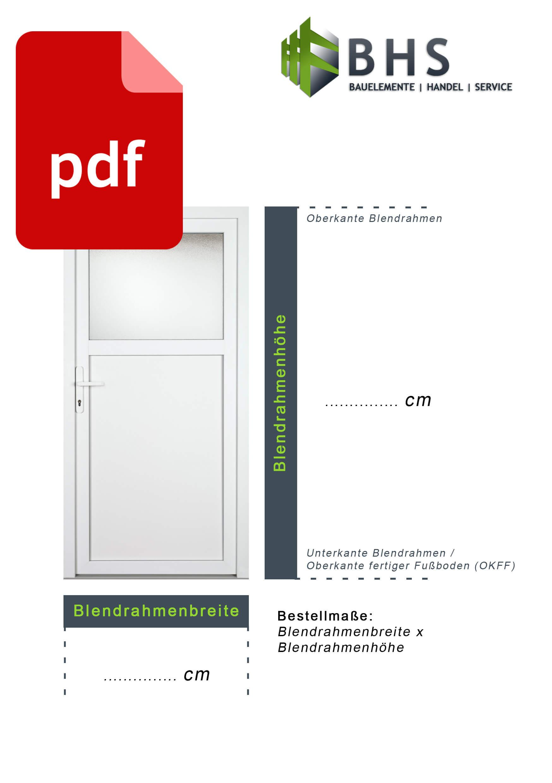 Hervorragend Türen ausmessen leicht gemacht | Haus- und Nebeneingangstüren TN04