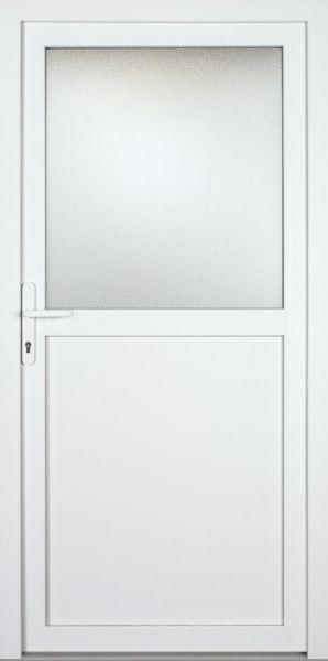 """Nebeneingangstür """"ADELA-S"""" 60mm (ALU-PVC, glatt, weiß)"""