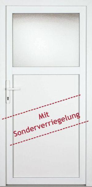 Nebeneingangstür Weiß Kunststoff - 88 oder 98cm (B) x 198cm (H) - links und rechts innen