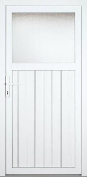 "Nebeneingangstür ""SANDRA"" 60mm (PVC, genutet, weiß)"