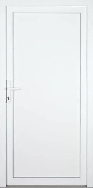 "Nebeneingangstür ""SWENJA"" 60mm (ALU-PVC, glatt, weiß)"