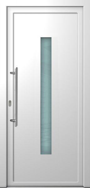 """LAGER Kunststoff Haustür """"LORE"""" 70mm Weiß (OHNE Edelstahlapplikation)"""