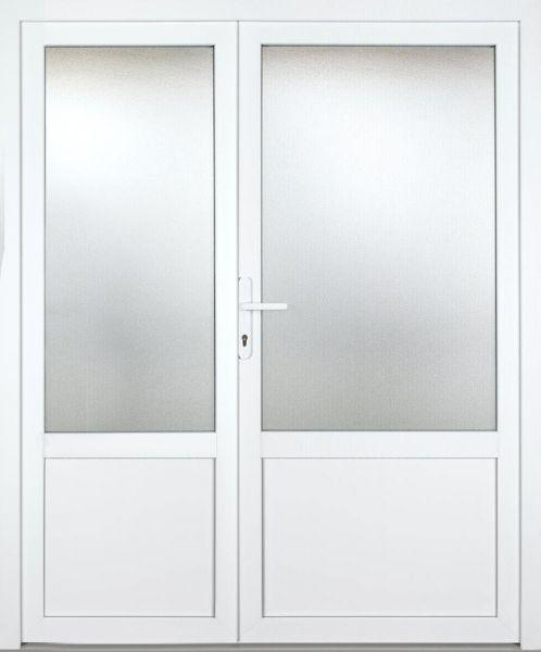 """Kunststoff-Aluminium Nebeneingangstür """"ANASTASIA 2/3"""" 70mm 2-flügelig Doppeltür asymmetrisch"""