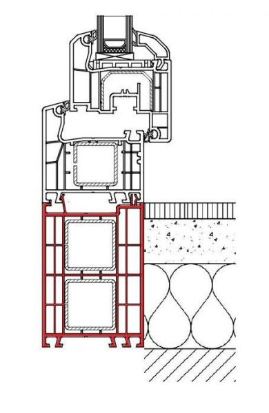 Rahmenverbreiterung für Türen der Stärke 68mm (Flexible Türmontage)