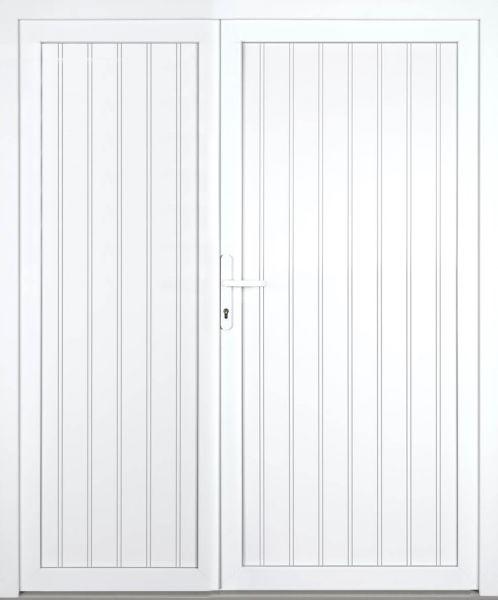 """Kunststoff Nebeneingangstür """"TANJA"""" 60mm 2-flügelig Doppeltür asymmetrisch"""