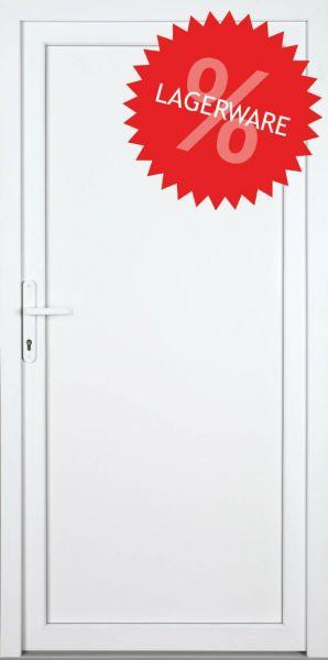 """AKTIONS-Nebeneingangstür """"DIANA"""" 60mm (108cm(B),192cm(H), Weiß beidseitig, DIN links außen, PVC)"""